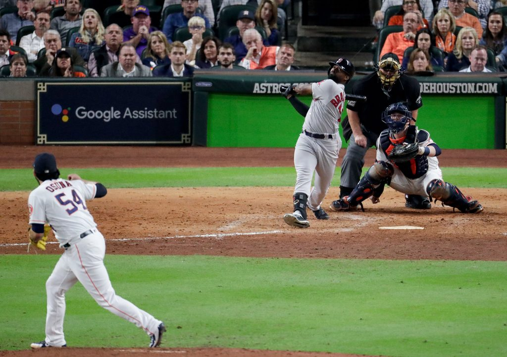 Astros may have been cheating in Game 1 against Red Sox
