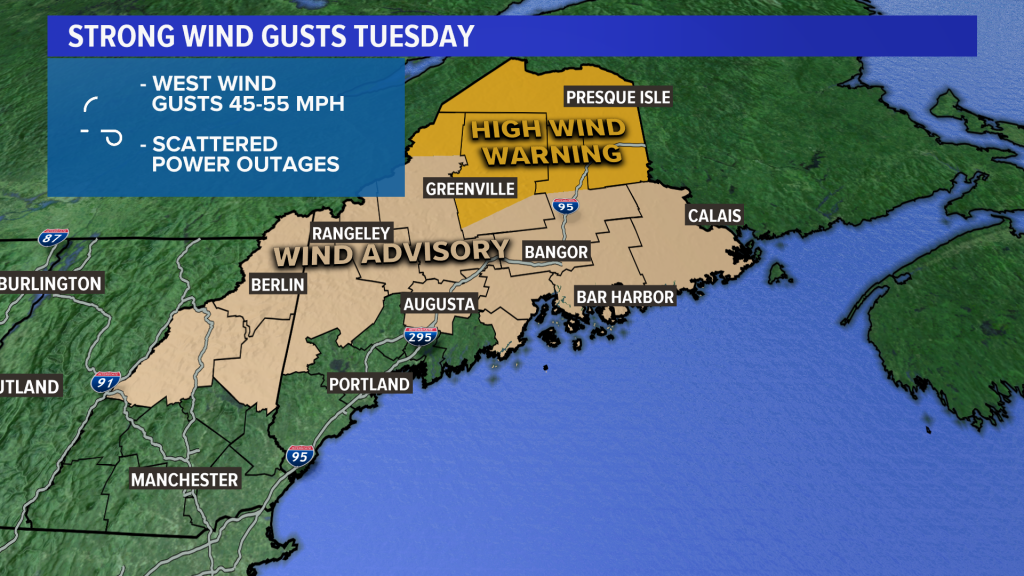 Scattered Power Outages Expected From Gusty Winds Tuesday Portland