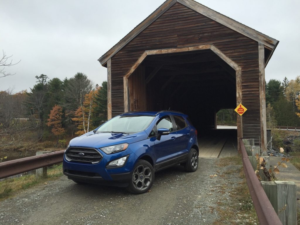 The Ford EcoSport SES is one of the smallest all-wheel-drive vehicles on the market. (Photo by Tim Plouff)