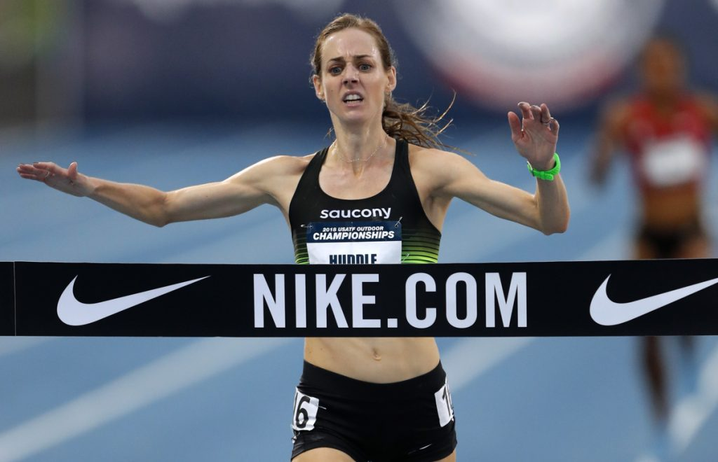 Molly Huddle, the U.S. record-holder at 10,000 meters and the half marathon, placed third in her marathon debut at New York in 2016 and is back for another try.