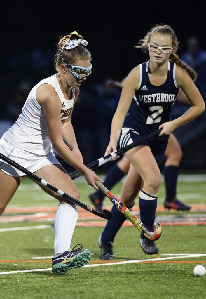 Sophomore Abby Allen, left, was Biddeford's top scorer this season with 24 goals, a school record, and 12 assists.
