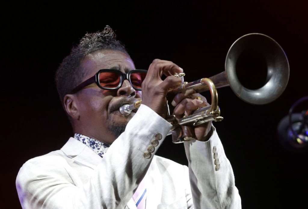 Roy Hargrove performs in July at the Five Continents Jazz festival in Marseille, southern France. He died Friday from cardiac arrest stemming from a longtime fight with kidney disease.