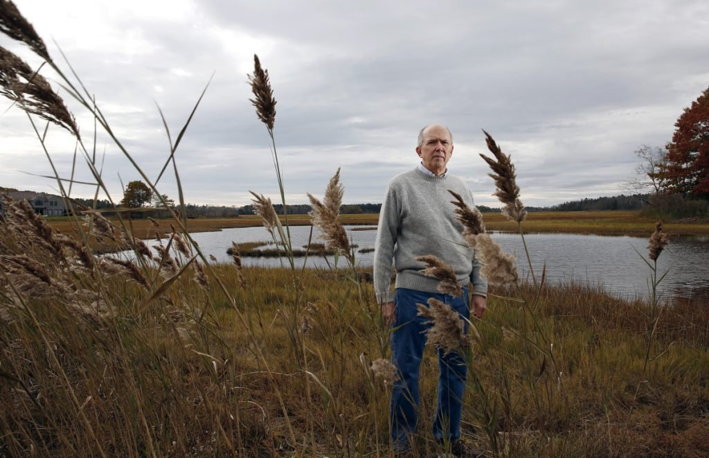"Marvin Gates, a resident of Black Point Road in Scarborough, is among the people opposed to a proposal to erect a cell tower near the Scarborough Marsh. ""Scarborough Marsh is one of the most incredible places,"" he says."