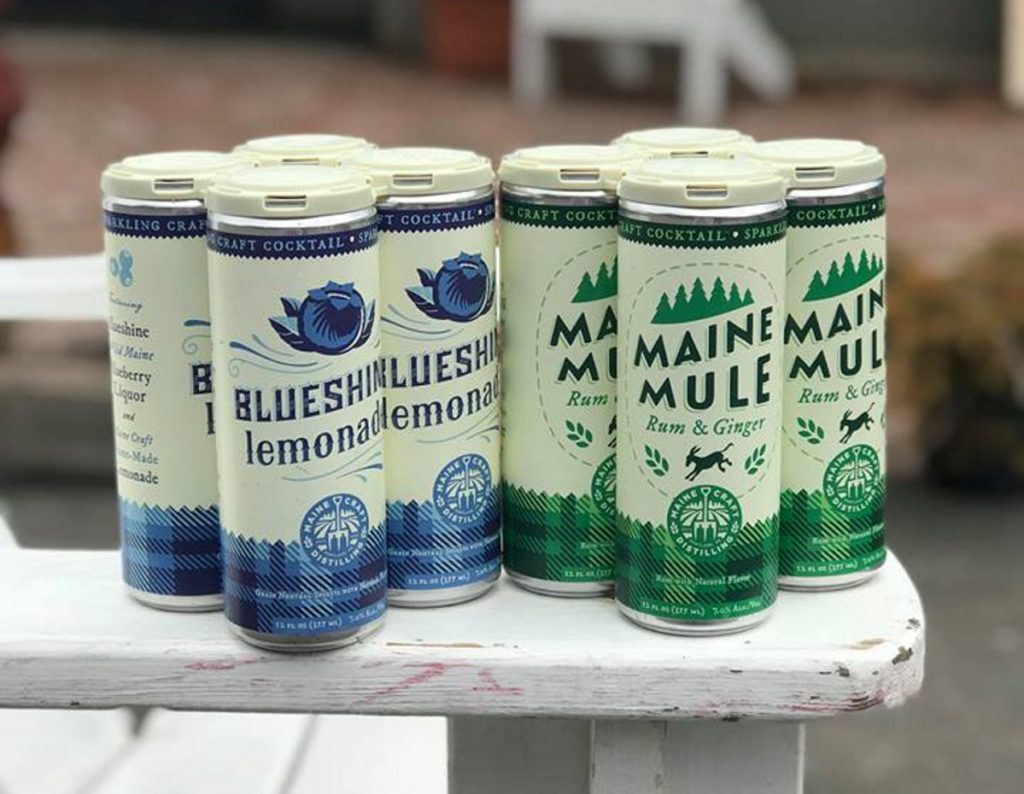 In April, Maine Craft Distilling began canning two cocktails – Maine Mule and Blueshine Lemonade. Coffee, wine, cocktails and now kombucha have followed craft beers into cans.
