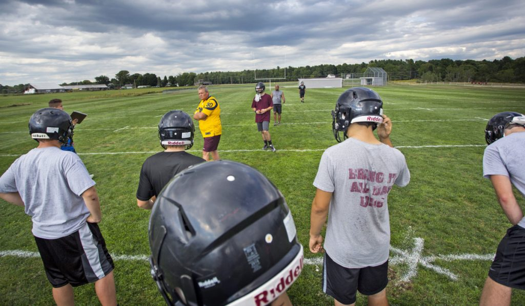 Dave Higgins, football coach at Greely, finished the season with 22 players, often dressing less than 20 for games. The team will lose 10 seniors, prompting the school to consider other options.
