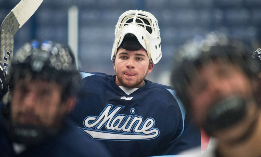 Jeremy Swayman made a season-high 44 saves Saturday, but UMaine lost 1-0 to UMass-Lowell.