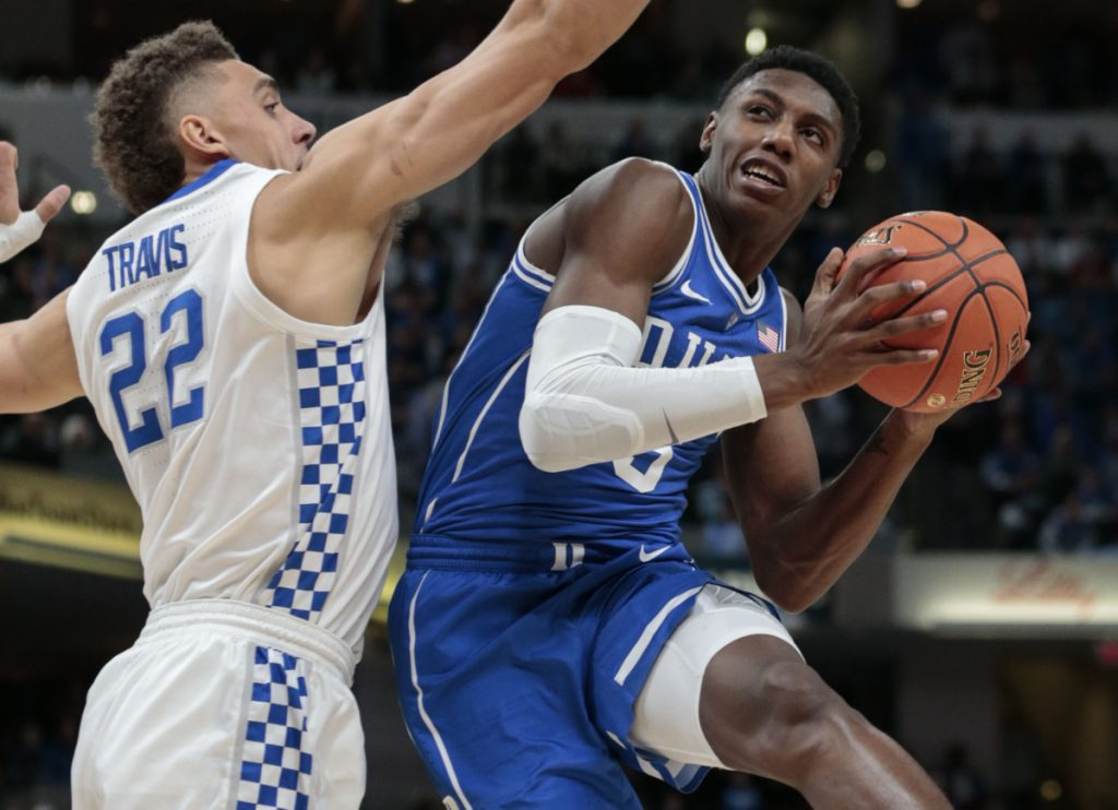 Duke forward R.J. Barrett is one of four freshmen that took over the season opener against Kentucky on Tuesday night. Barrett was joined by Zion Williamson, Tre Jones and Cam Reddish in piling up a 118-84 win.