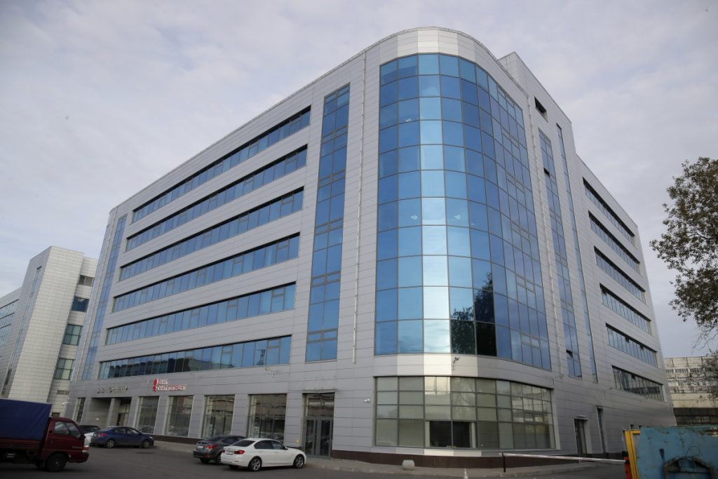 """This Saturday, Oct. 20, 2018 file photo shows a business center building known as the """"troll factory"""", an Internet Research Agency, one of a web of companies allegedly controlled by Yevgeny Prigozhin, who has reported ties to Russian President Vladimir Putin, in St. Petersburg, Russia. Federal cybersecurity officials aren't aware of any voting system compromises by Russia or other foreign agents during the midterm elections. But it's not entirely clear why or whether hackers are saving their gun powder for the 2020 presidential showdown."""