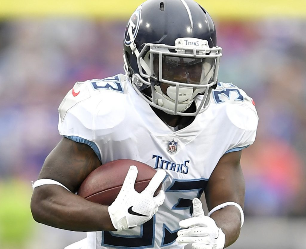 Running back Dion Lewis is the leading rusher for the Titans, who play the Patriots on Sunday.