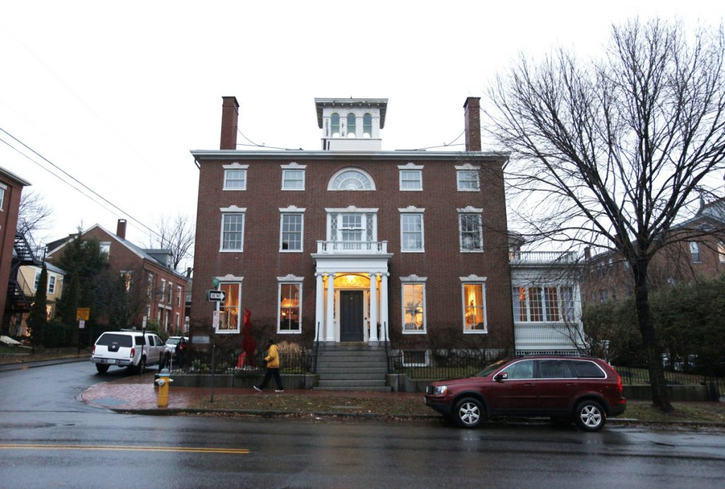 Portland's Danforth Inn, shown in December 2015, is headed to auction on Nov. 16. The owners filed for bankruptcy in March, then tried unsuccessfully to sell the 1823 mansion. They now are appealing the auction order to give a prospective buyer more time to arrange financing.