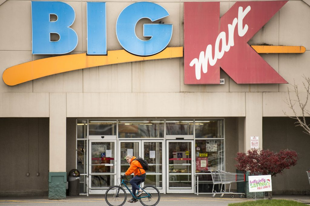 The Kmart at Elm Plaza in Waterville will close early next year. Local residents expressed concern about the effect on the community, especially job losses.