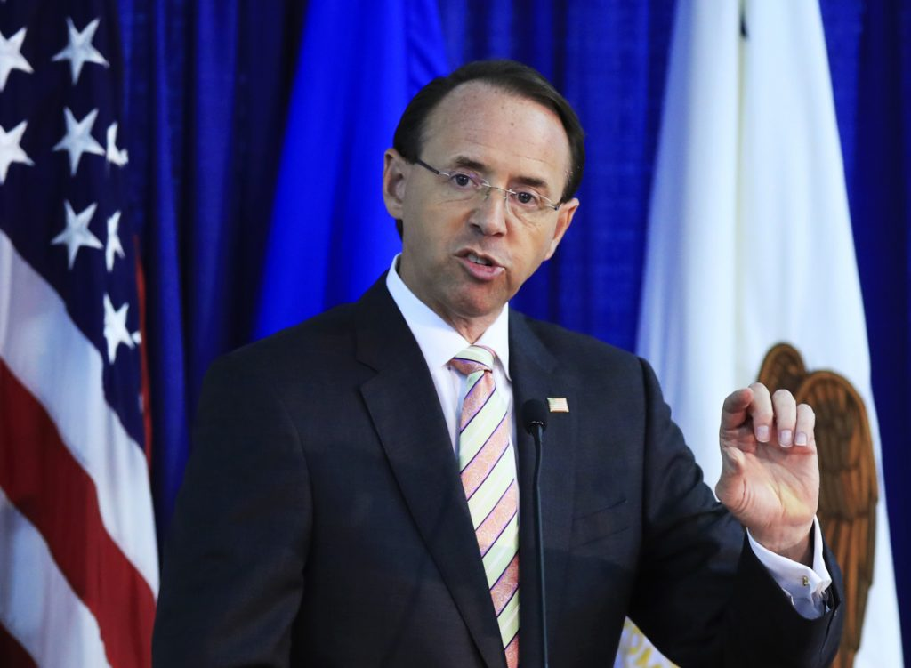 """The Chinese government has the ability to stop (labs from selling fentanyl online) if they want to,"" says Deputy Attorney General Rod Rosenstein."
