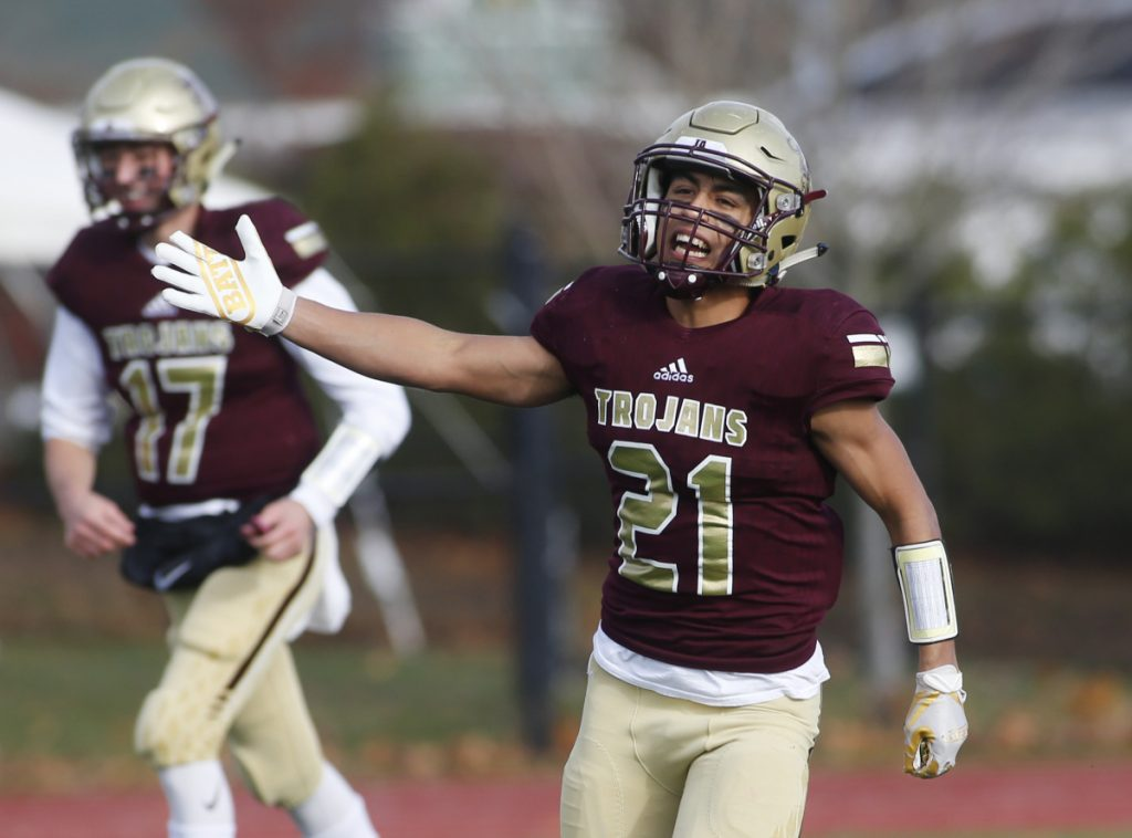 Anthony Bracamonte took over for Thornton Academy in the Class A South final, rushing for 300 yards and scoring four touchdowns.