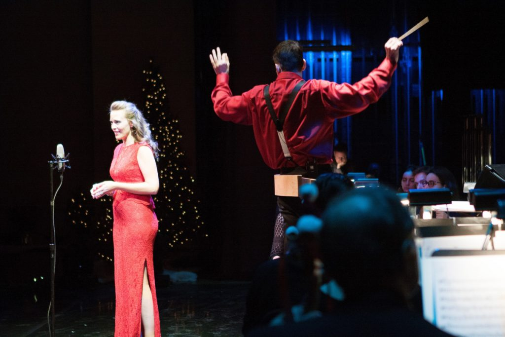 Soprano Elisabeth Marshall sings with Robert Moody and the Portland Symphony Orchestra in December 2016      Photo by Mical Hutson, courtesy of the Portland Symphony Orchestra