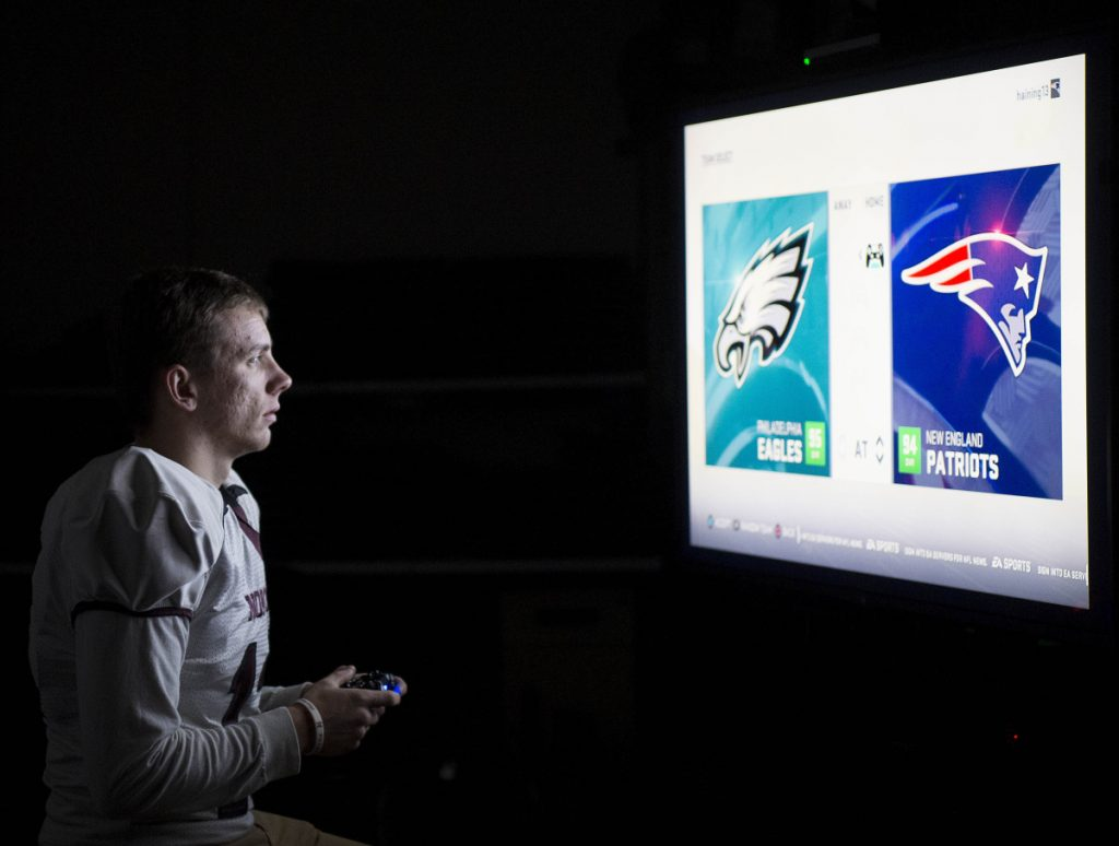 Quarterback Andrew Haining, who will lead Nokomis in the Class C state championship game Saturday, says he's able to apply concepts learned through playing the Madden video game to real-game situations.