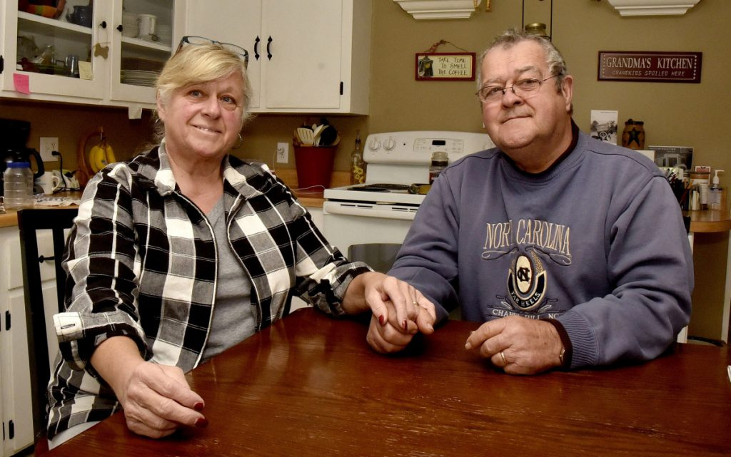 Jackie and Pete Reny inside the kitchen of their home in Vassalboro on Monday, November 5, 2018. The Reny's are well known for their generosity and kindness to neighbors and strangers alike. Jackie is a volunteer for hospice and both are willing to help with community events like fundraisers and community dinners.