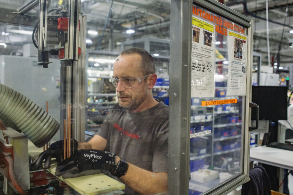 Kenneth Sawyer, of Newport, N.H., has been employed by Hanover-based Hypertherm for eight years and has been sober for 10. The company casts itself as 'recovery friendly.'
