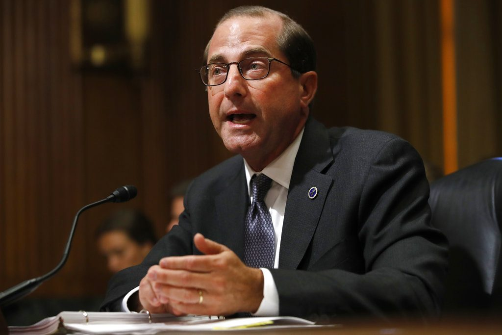 Health and Human Services Secretary Alex Azar says overdose deaths have now begun to level off. But he cautioned it is too soon to declare victory.