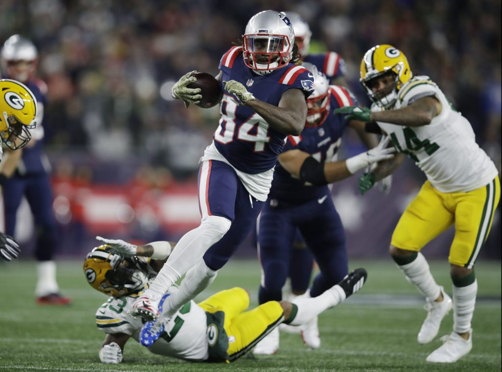 Wide receiver Cordarrelle Patterson has taken on a new role with the New England Patriots, as a running back. Sunday night Patterson rushed for a team-high 61 yards and a touchdown in the Patriots 31-17 win over Green Bay.