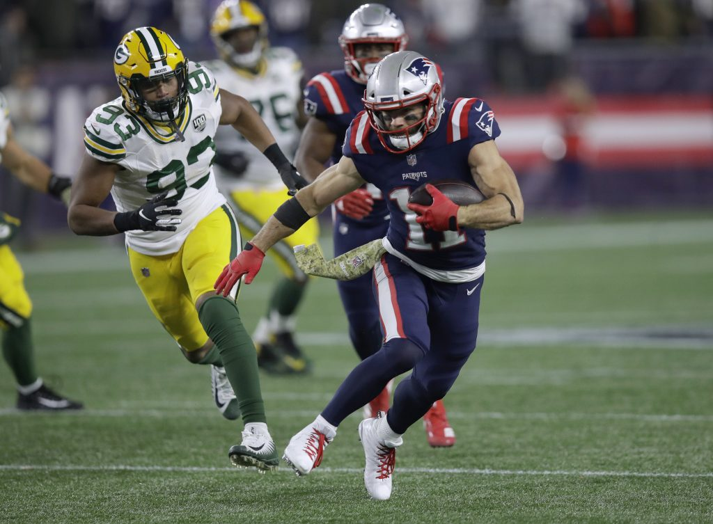 Julian Edelman helped spark the New England Patriots to a 31-17 win over the Green Bay Packers on Sunday night, with his arm, throwing a a 37-yard pass to James White on a trick play in the third quarter.