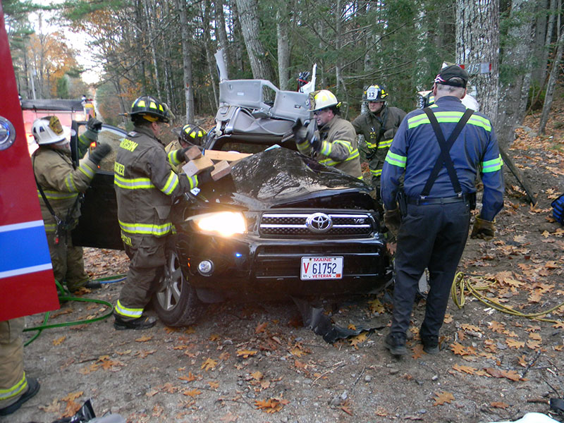 Scene of a crash in Harrison on Thursday afternoon that injured two teens.