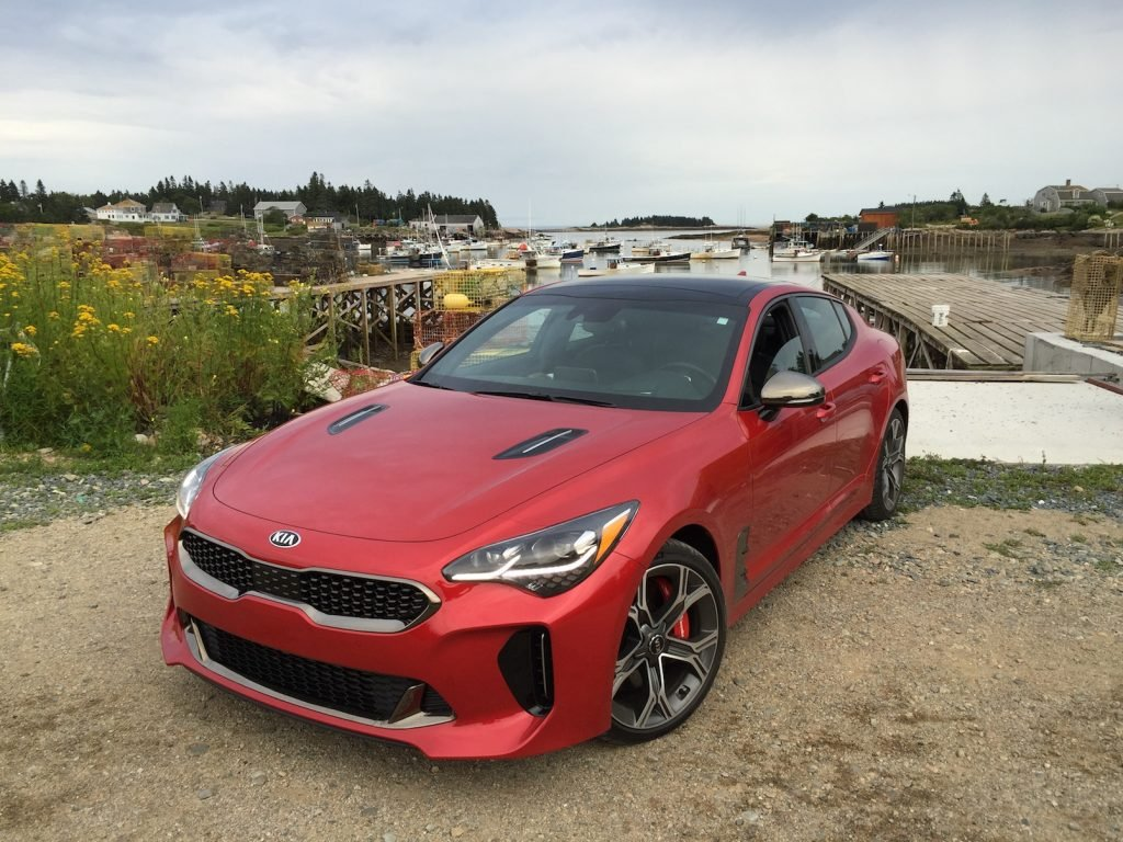 "The Kia Stinger GT: ""There is a strong hint of the Genesis luxury brand evident in the chassis and overall styling."" (Photo by Tim Plouff. Location: Corea Harbor.)"