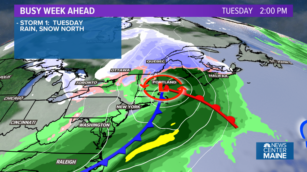 More heavy rain for Tuesday