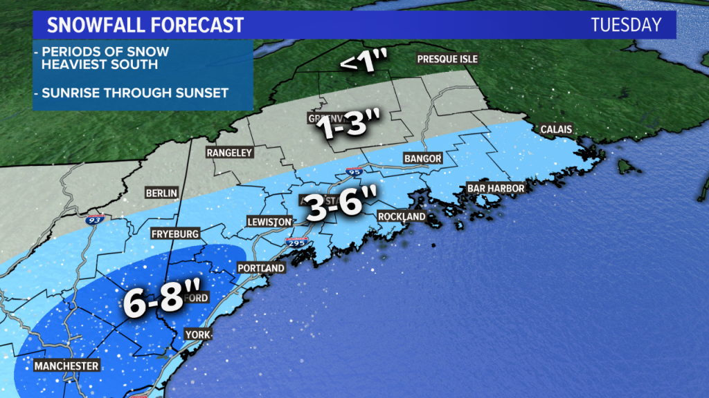Maine expected to get another snowstorm before Thanksgiving