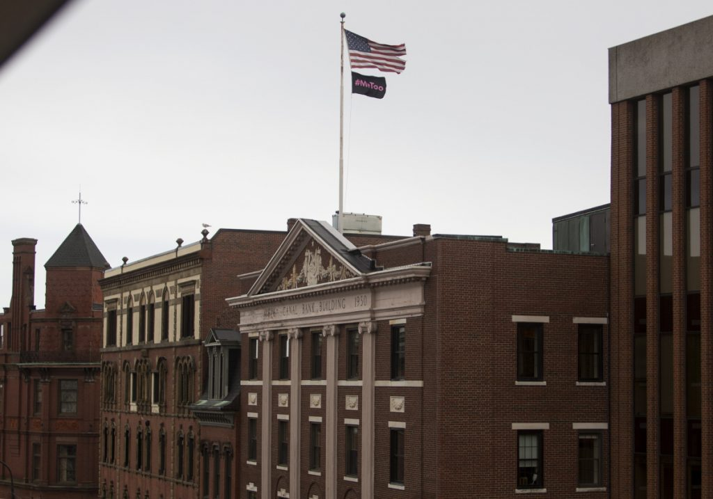 Real estate investor Fabian Friedland bought the group of Old Port buildings known as the Boyd Block in 2014 and joked then that he would be replacing the U.S. flag with a New York Yankees flag. (The joke fell flat.)