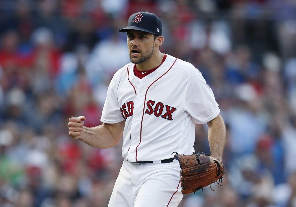 Nathan Eovaldi went 3-3 with a 3.33 ERA during the regular season after being acquired by the Boston Red Sox. In the playoffs, he allowed four earned runs in 22   innings. (AP Photo/Michael Dwyer)
