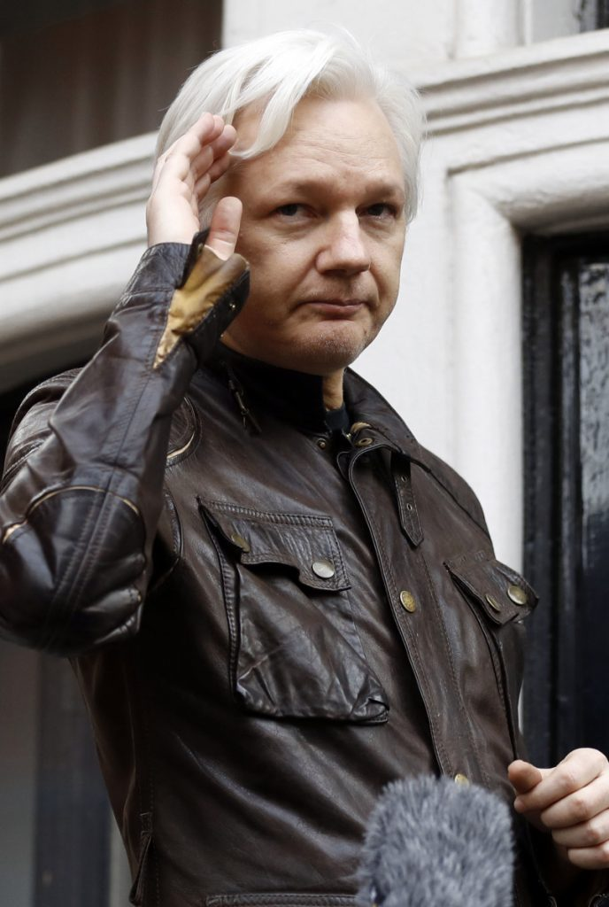 WikiLeaks founder Julian Assange has been holed up in Ecuador's embassy in London since 2012. Associated Press / Frank Augstein