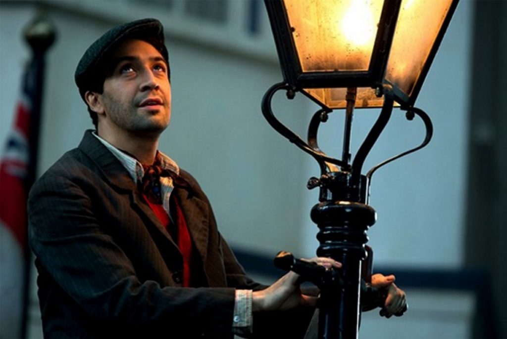 Lin-Manuel Miranda plays the lamplighter Jack.