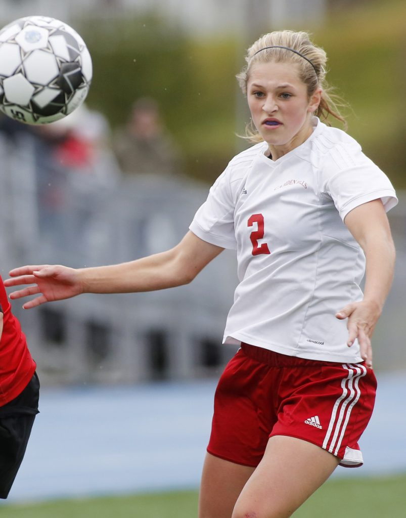 Kristina Kelly, who has led Camden Hills to three straight Class A girls' soccer championships, is 11th all-time in Maine girls' soccer scoring.