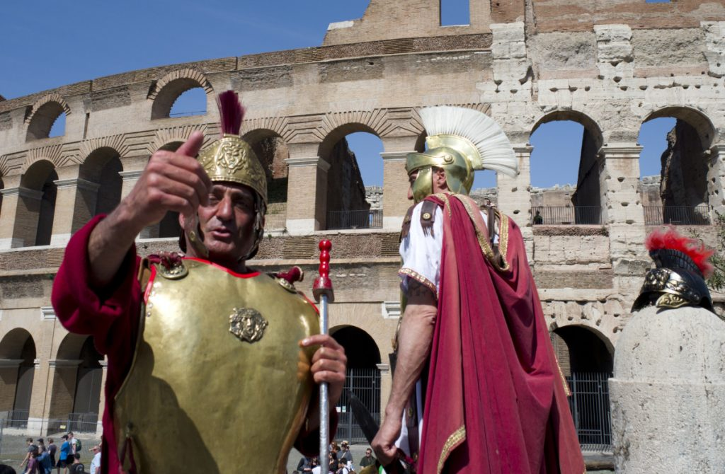 Tourists are advised to stay clear of gladiators who might really be costumed panhandlers outside the Colosseum. All kinds of disruptive conduct are being targeted by authorities wanting a more orderly Rome.