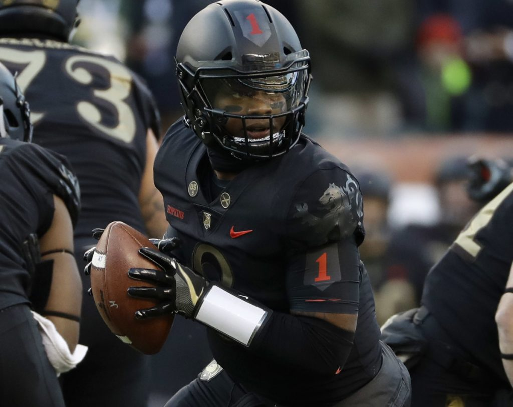 Kelvin Hopkins Jr. rushed for two touchdowns Saturday as Army defeated Navy 17-10 in their annual game at Philadelphia.