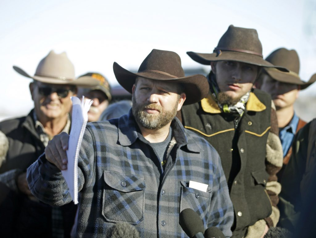 Though a figurehead of the anti-government sentiment, Ammon Bundy – shown during the armed takeover of an Oregon wildlife refuge in 2016 – says he never joined a movement and now empathizes with migrants.