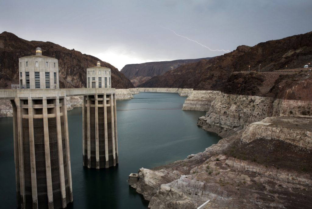 The Hoover Dam at the Lake Mead National Recreation Area on the border between Nevada and Arizona is part of the vast and overtaxed Colorado River system.