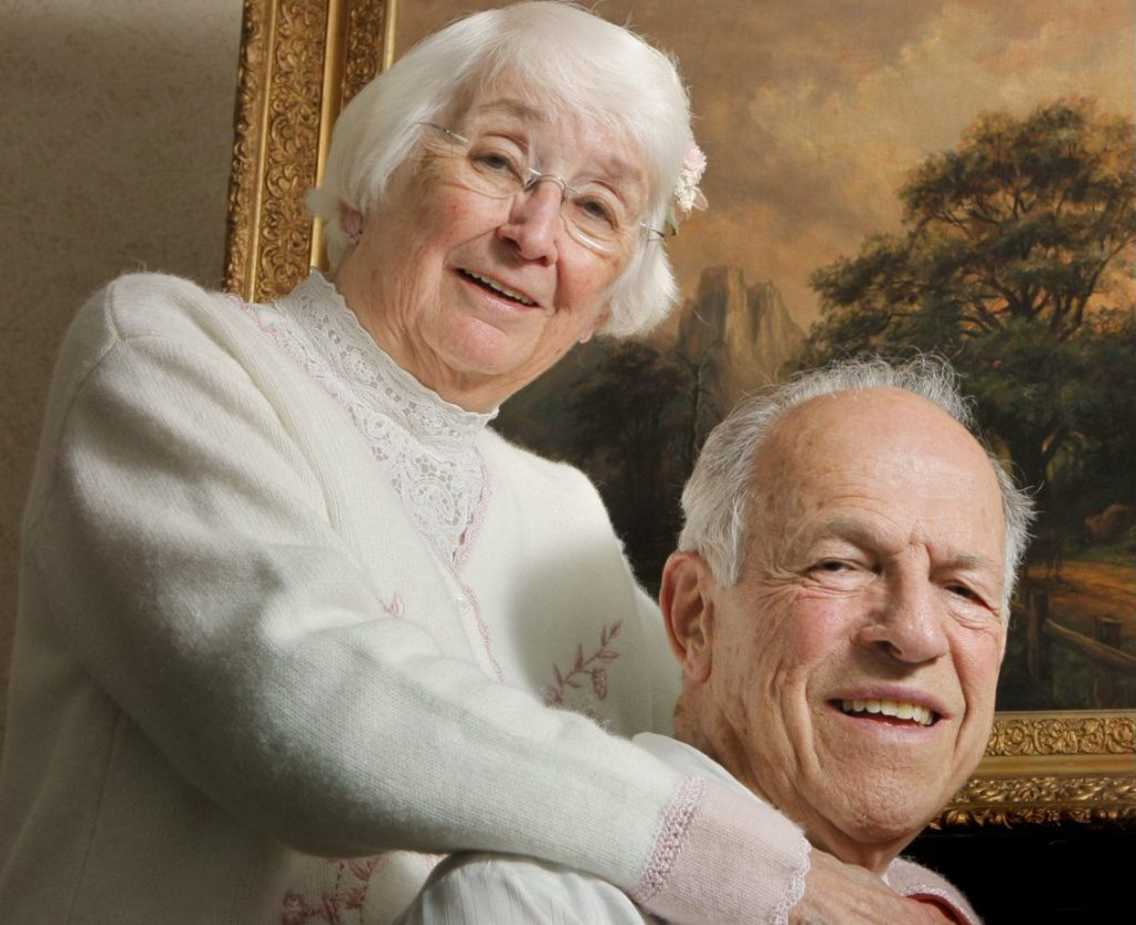 Barbara and Al Hawkes spend time together in 2012. They were married for 66 years and had two children, one of whom died in a car crash at age 21.