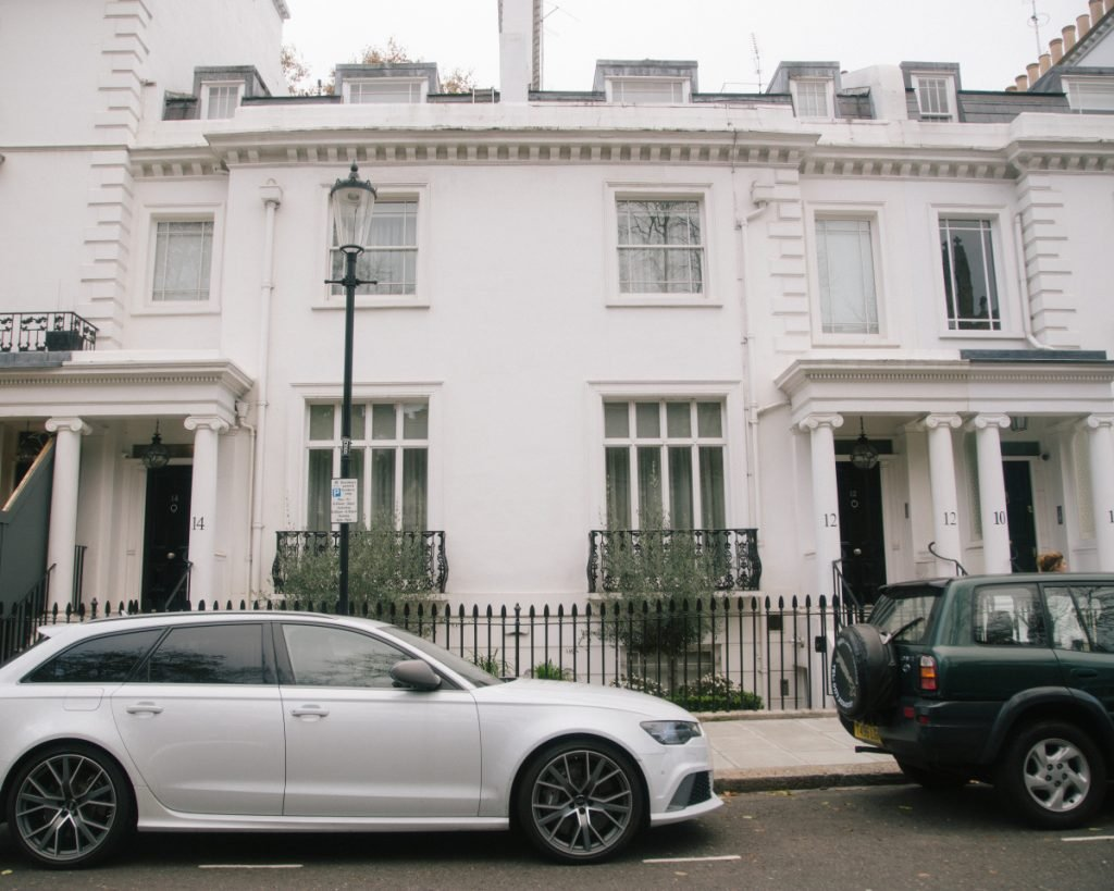 Zamira Hajiyeva lived in this $14.5 million townhouse in London's upscale Knightsbridge neighborhood. Hajiyeva's husband was convicted  in 2016 of embezzling money from a state-controlled bank in their native Azerbaijan.