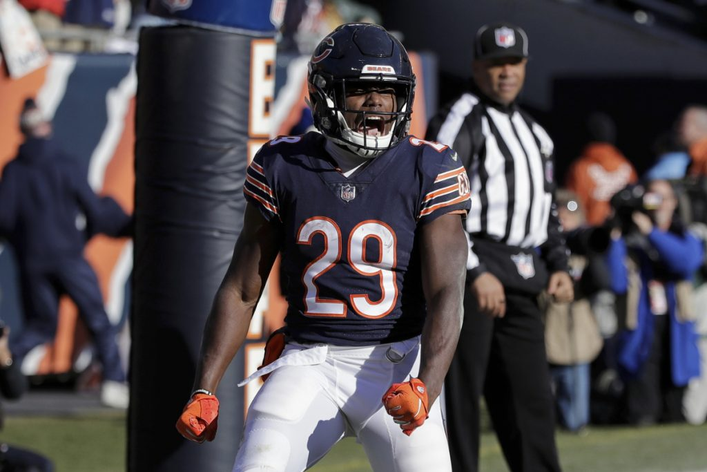 Bears running back Tarik Cohen celebrates a touchdown during Chicago s 24-17  win Sunday over 83ad6b87b
