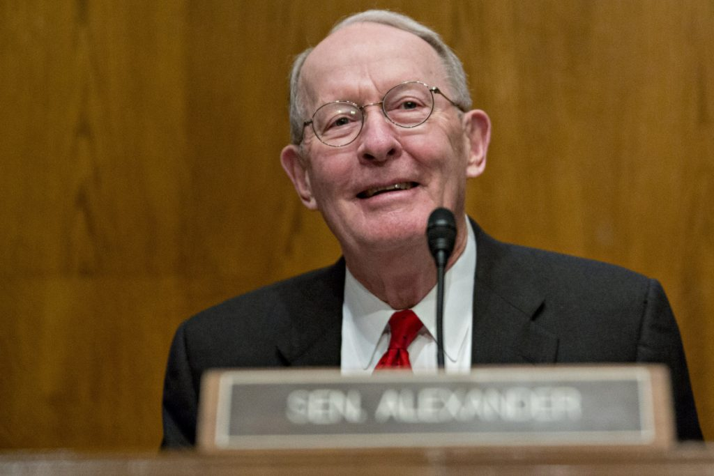 Sen. Lamar Alexander, R-Tenn., won't run for reelection. His decision means for the second time in two years, Tennessee will have an open U.S. Senate race. MUST CREDIT: Bloomberg photo by Andrew Harrer