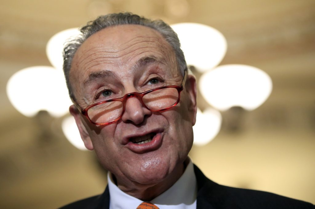 "Senate Democratic Leader Chuck Schumer, D-N.Y., said Tuesday that Democrats would not accept a billion-dollar ""slush fund"" for President Trump's border wall. Republicans had proposed $1.6 billion for border fencing and another $1 billion for Trump to spend at the border."