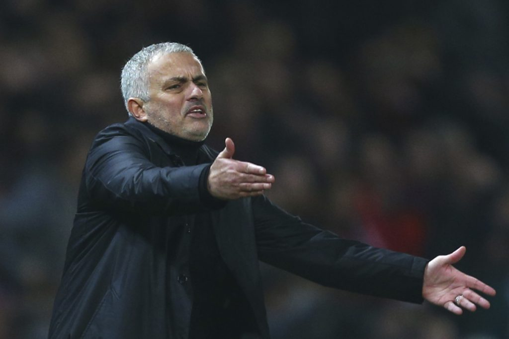 Manchester United parted ways with manager Jose Mourinho on Tuesday, two days after a 3-1 loss to Liverpool left United 19 points off the top of the Premier League. (AP Photo/Dave Thompson, File)