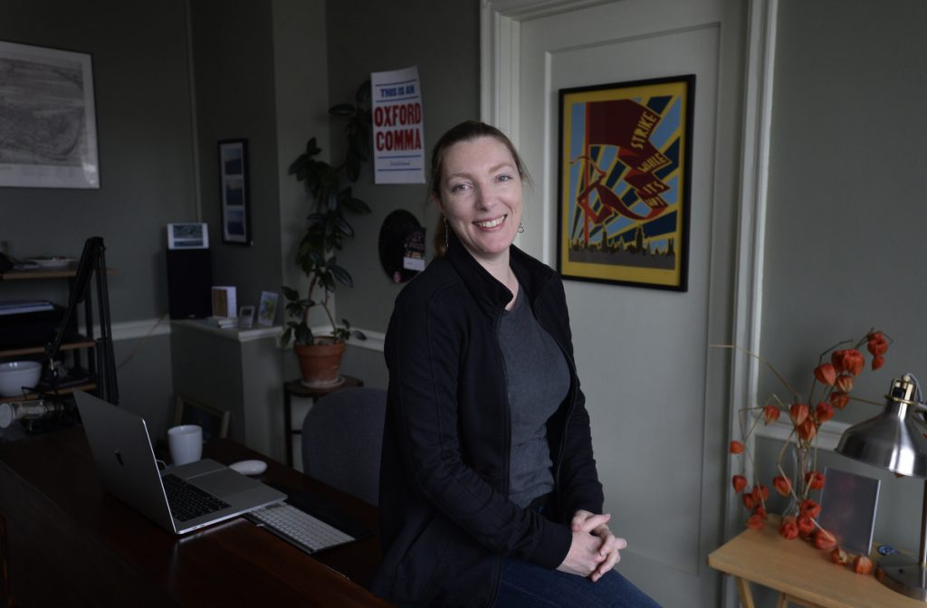 Stacy Mitchell of the Institute for Local Self-Reliance in her Portland office.
