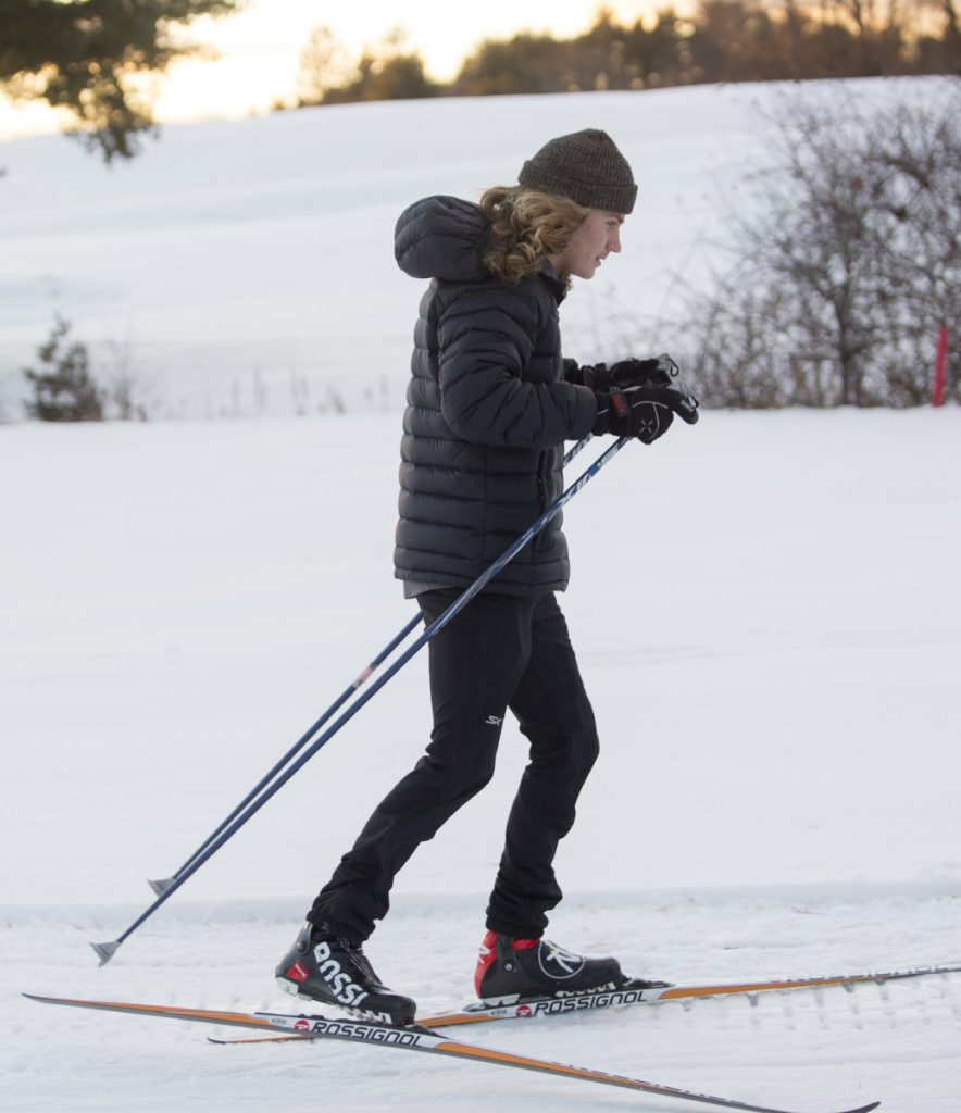 Liam Niles, the defending pursuit champion in Class A, leads a Portland Nordic team with skiers from Deering, Cheverus, Portland and Casco Bay high schools.