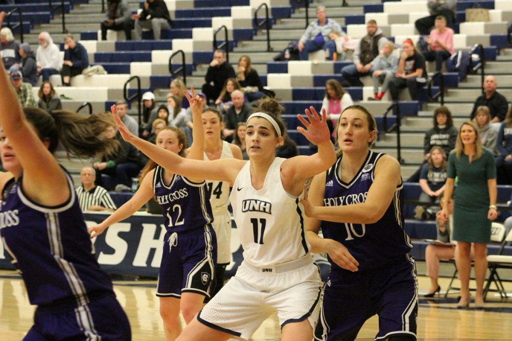 Her former AAU coach says Ashley Storey does nothing wrong. She's been all right for UNH this year, leading the team in scoring, steals and blocks.