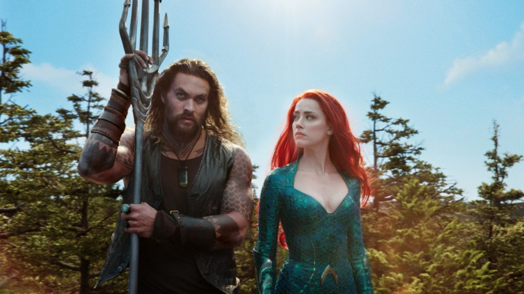 "Jason Momoa and Amber Heard star in ""Aquaman,"" which added $51.6 million in North American ticket sales over the weekend to take first place again."