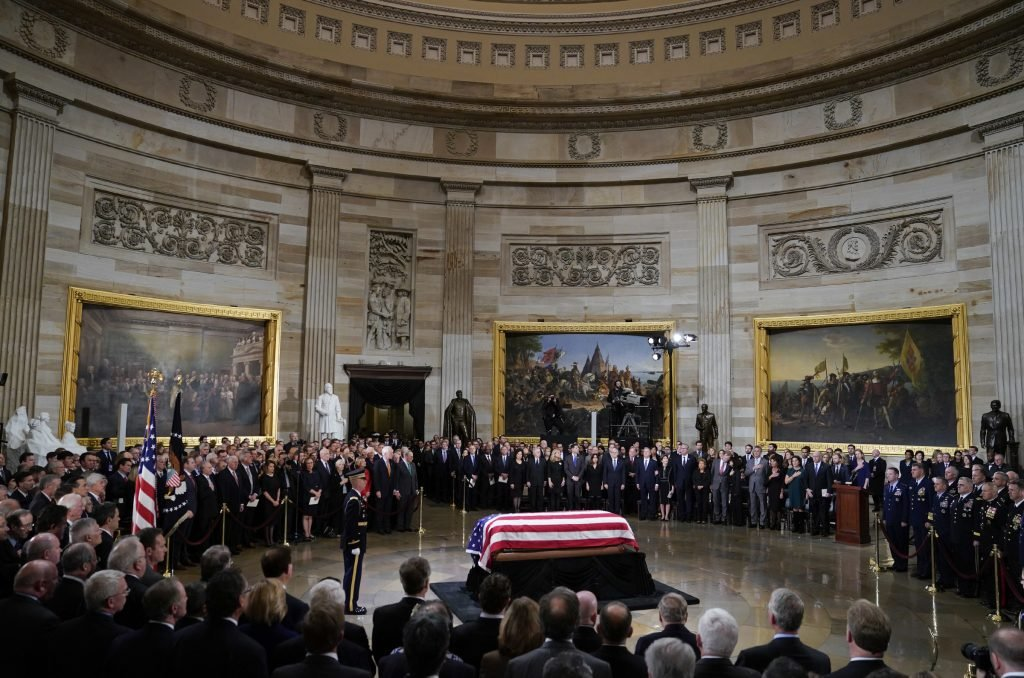 George HW Bush's final journey to the Capitol