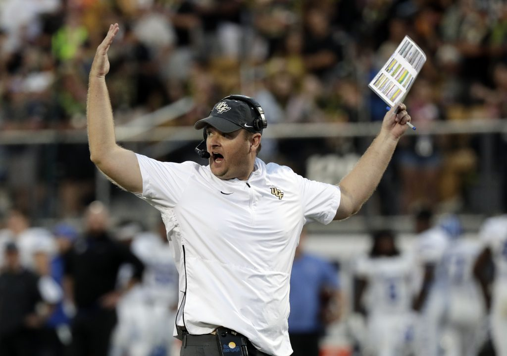 Josh Heupel's Central Florida team will try to cap an undefeated season in the Fiesta Bowl against LSU.