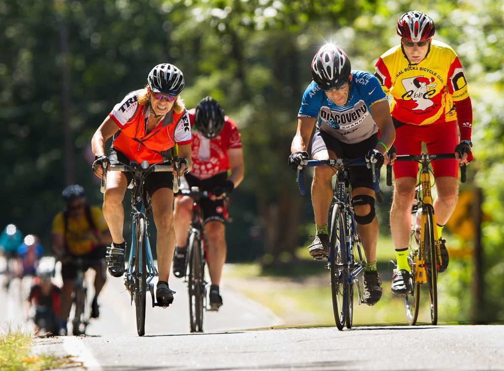 Cyclists participate in the 2015 version of BikeMaine. Organizers say the event has a substantial economic impact on the state.